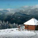 Красота: появились свежие фото осенних Карпат в снегу