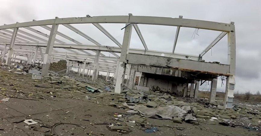 В Донецке показали разрушенный гипермаркет «Метро» вблизи аэропорта (Фото)
