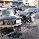 В Киеве на Васильковской произошло серьезное ДТП, столкнулись 3 авто