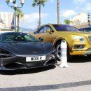 В Монте-Карло помітили позолочений Bentley на українських номерах