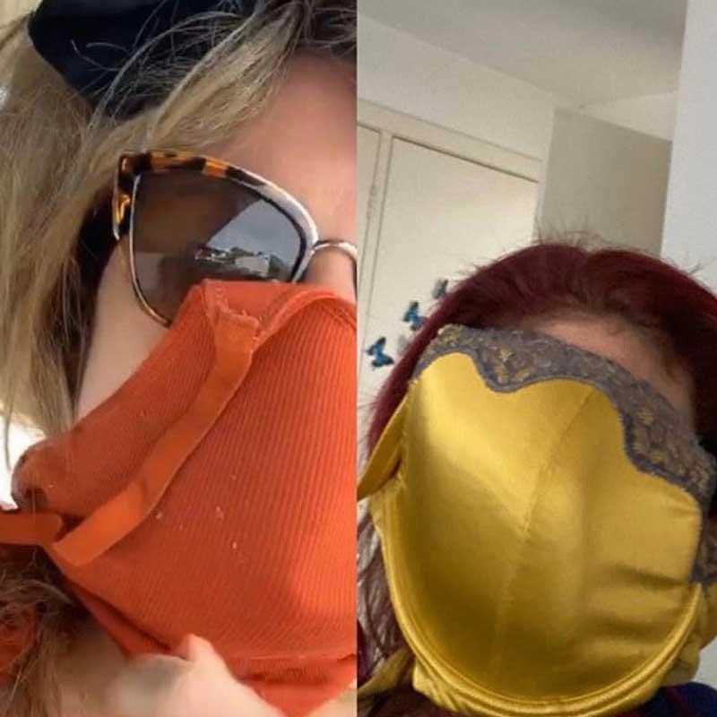 Лифчик вместо маски: мама шестерых детей нашла оригинальный способ защиты от коронавируса